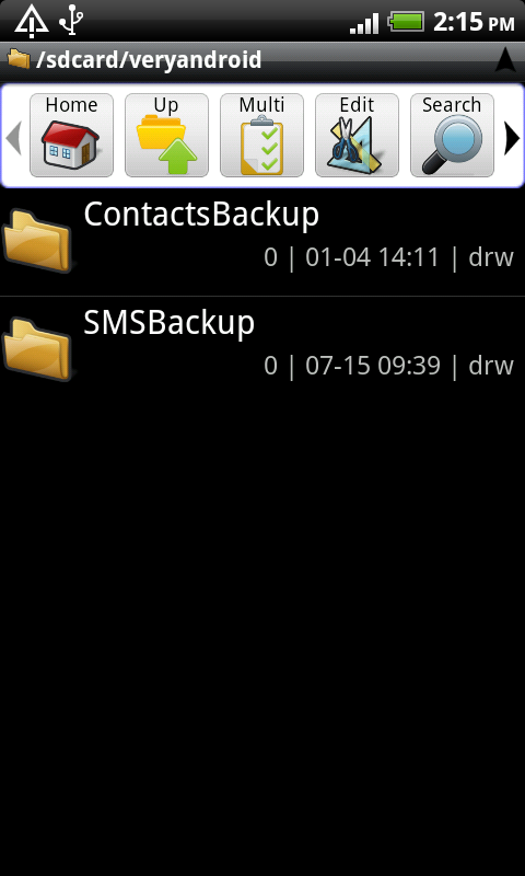 copy contacts from Android to SD card