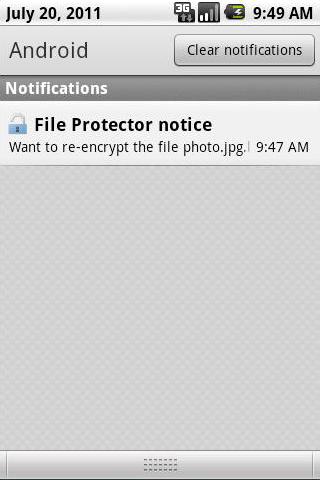 unlock protected files folders on Android