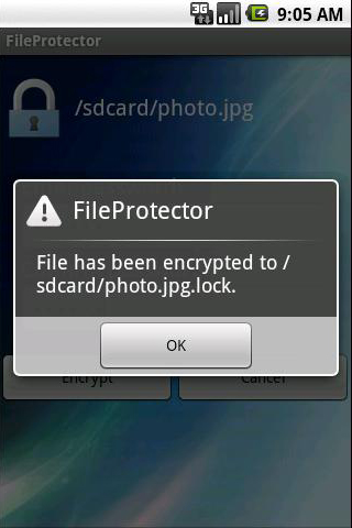 password protect files folders on Android