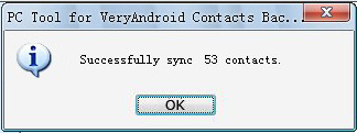 successfully transfer contacts from previous android to new android