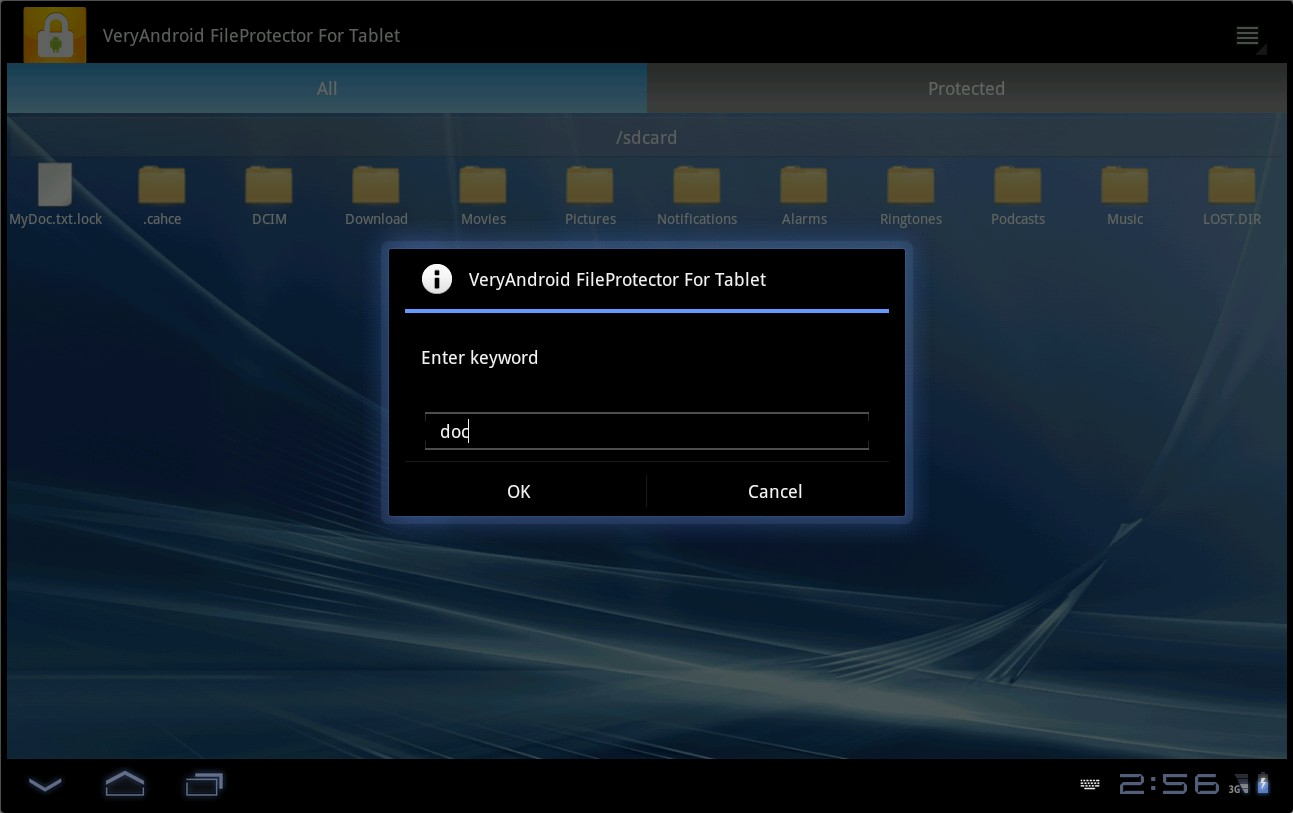 How to unlock Android Tablet protected files and folders