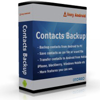 VeryAndroid Contacts Backup - Backup Contacts for Android on PC